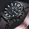 NAVIFORCE Mens Watches Top Brand Luxury Fashion Sports Watches Men 3D Scale Nylon Strap Army Military