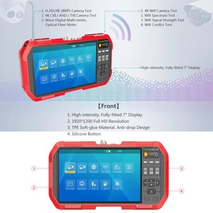 Image 2 - Profesyonel HD Birleştirmek Test Cihazı DT A86 7 Inç H.265 4 K IP kamera test cihazı 8MP TVI CVI 5MP AHD CVBS CCTV Test Cihazı monitör Multimetre