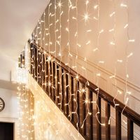 2018 curtain LED String Lights for Party Wedding Decoration Christmas start Flasher Fairy Lights 2*3 300leds