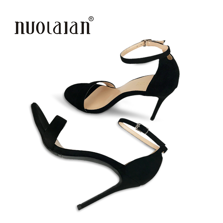2018 Brand women pumps ankle strap high heel pumps shoes for women sexy peep toe high heels sandals party wedding shoes woman 2017 sexy women pumps high heels peep toe platform shoes woman high heel wedding shoes bride wedge ladies shoes silver