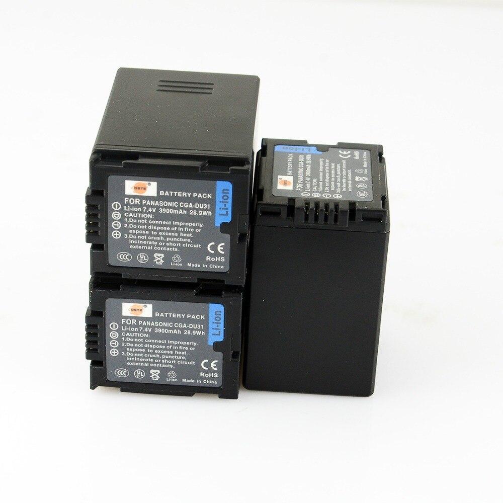 ФОТО DSTE 3PCS CGA-DU31 Rechargeable Battery For Panasonic DZ-GX20 GX25M MV350 MV380 MV550 MV580 MV780 GS100K Camera