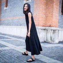 [Gutu] Лето 2017 г. Новый patttern o-образным вырезом без рукавов Твердые Цвет свободные широкие брюки длиной до щиколотки romperscasual женщина L41601