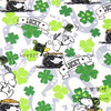 140cm Width White Background Puppy Dog And Four Leaf Clover Cotton Fabric Baby Boy Clothes Sewing