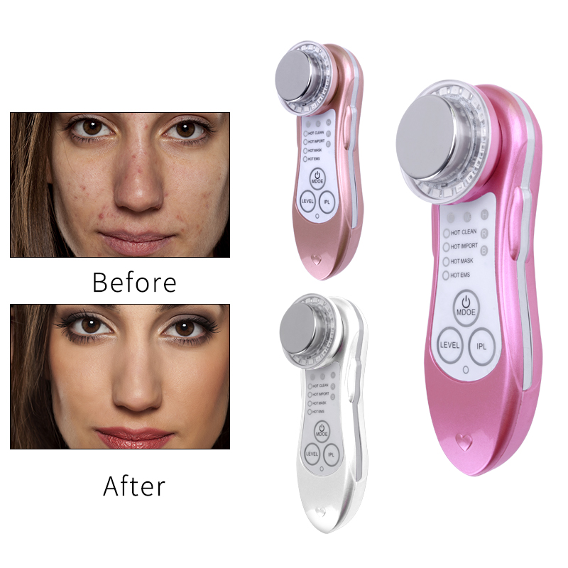 5 In 1 Skin Exput Rejuvenation Instrument Face Beauty Machine LED Photon Therapy Massager Anti-aging Wrinkle Removal Machine