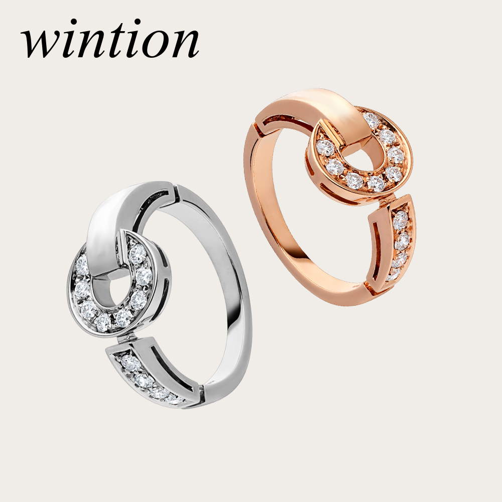 WINTION BULGARIA 925 sterling silver genuine original silver with Zircon ring elegant noble fashion exquisite lady jewelry gift