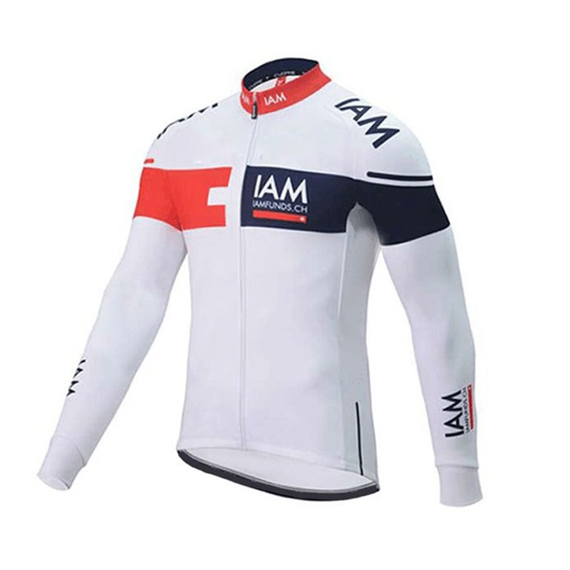 spring autumn 2016 Pro team IAM cycling jersey long sleeve mens quick dry thin bike cloth MTB Ropa Ciclismo Bicycle maillot only sgciker pro team italia cycling jersey thin spring autumn ropa ciclismo long sleeve racing bike cloth mtb bicycle maillot 5d gel