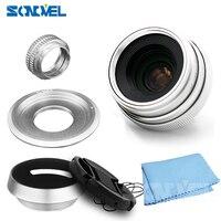 Prata 35mm F1.6 Lente CCTV C Montagem Da Lente Da Câmera + Lente kit Para Sony NEX-3 NEX-5 NEX-7 NEX-5N NEX-5C NEX-5R NEX-F3 A6300