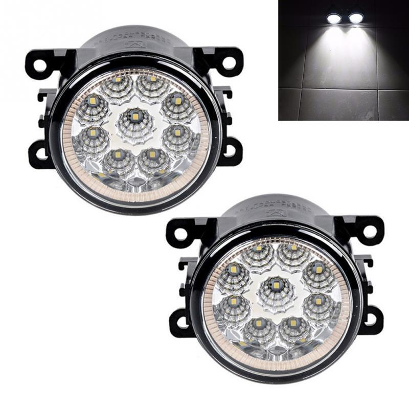 1 par amortecedor dianteiro led luzes de nevoeiro para renault megane 2 saloon lm 2003 ~ 2015 automóveis alto brilho nevoeiro lâmpada acessórios do carro
