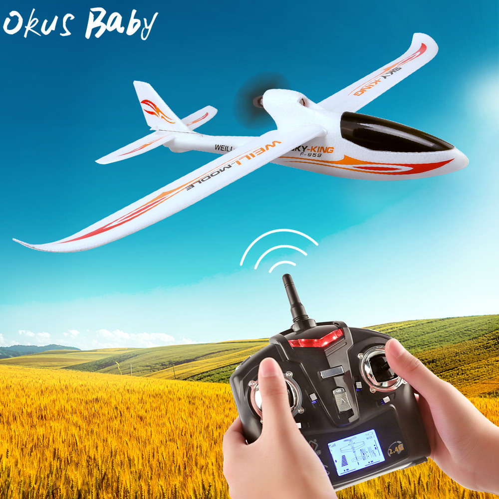 2019 Brand New 2.4G 3Ch RC Airplane Fixed Wing Plane Outdoor toys Drone For Gifts image