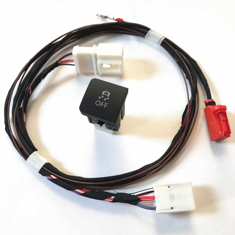 TUKE ESP OFF ASR Traction Control Driving Stability Program Mode Switch &  Cable Harness For VW Jetta MK5 Golf 5 MK6 1KD 927 117