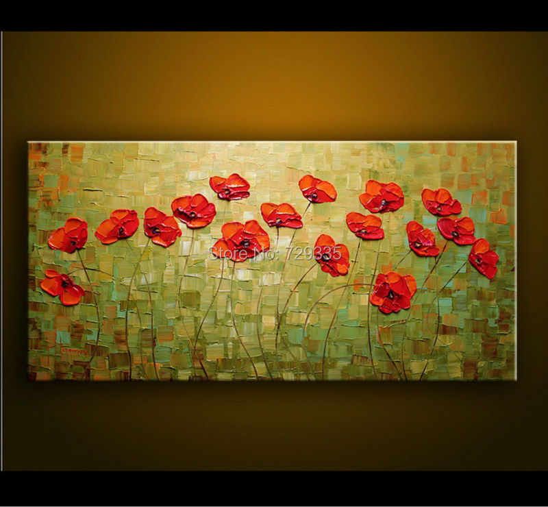 100%hand painted Canvas Art Palette knife Thick Paint Profusion ...