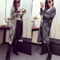 Geometric Printed Loose Cardigan Women Casual Long Sleeve Loose Sweater Cardigan Open Front Long Sweater Plus Size Sueter Mujer