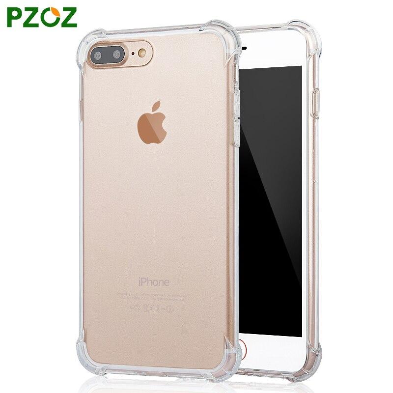 Pzoz para iphone7 case funda de silicona para iphone 7 plus Color transparente D