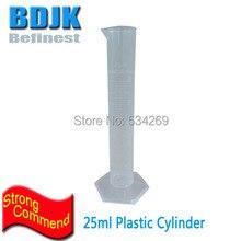 10 шт. 25 мл пластиковый лабораторный цилиндр прозрачные Градуированные марки PP измерительные цилиндры