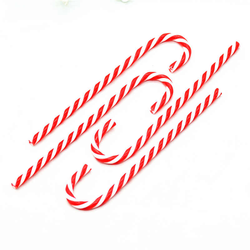 Christmas Candy.6pcs 15cm Acrylic Christmas Candy Cane Pendants Christmas Crutch Christmas Tree Hanging Decorations Accessories