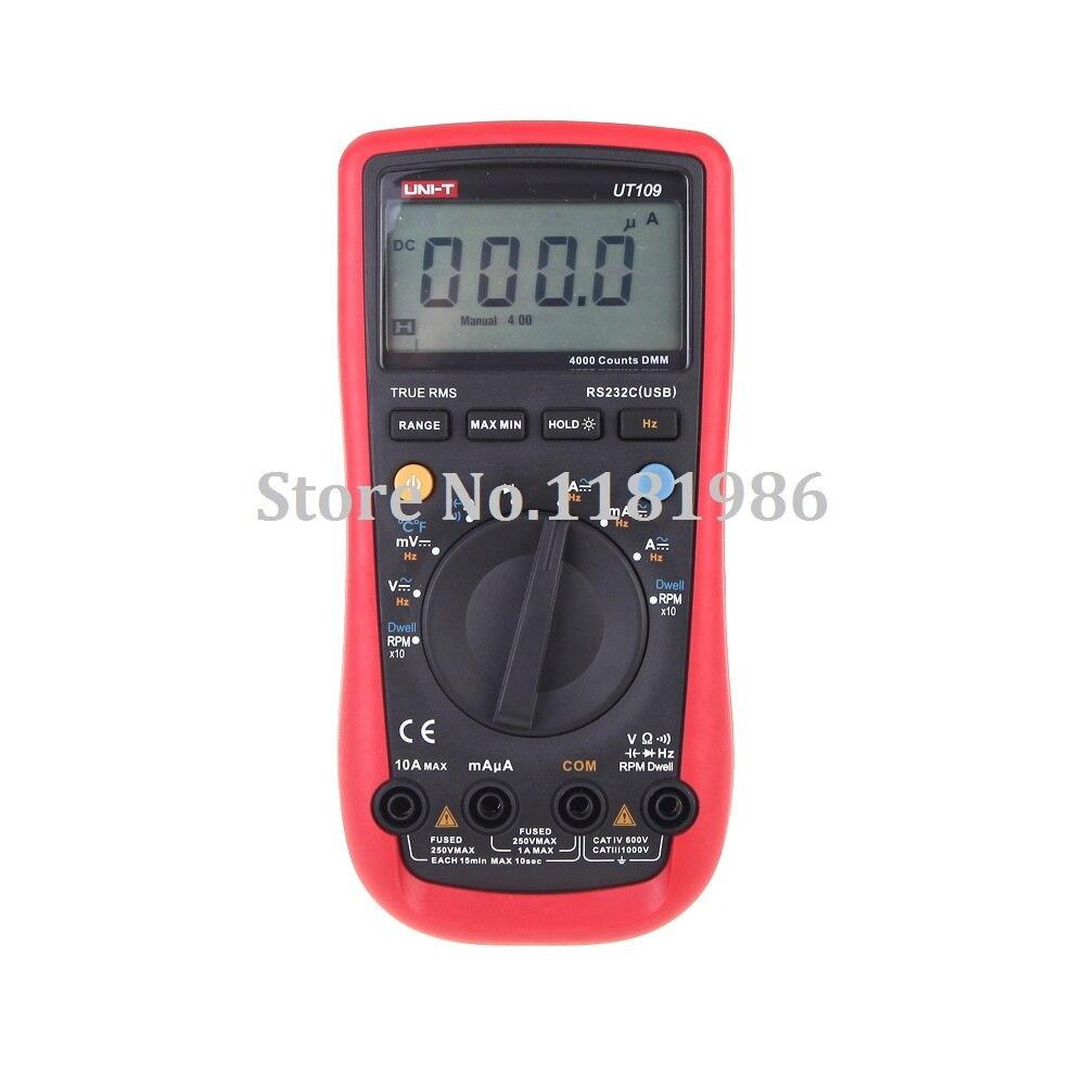 UNI-T UT109 Handheld Automotive Multi-Purpose Meters Multimeter Multimetro Volt Amp Ohm Capacitance Temp Frequency Tester  цены