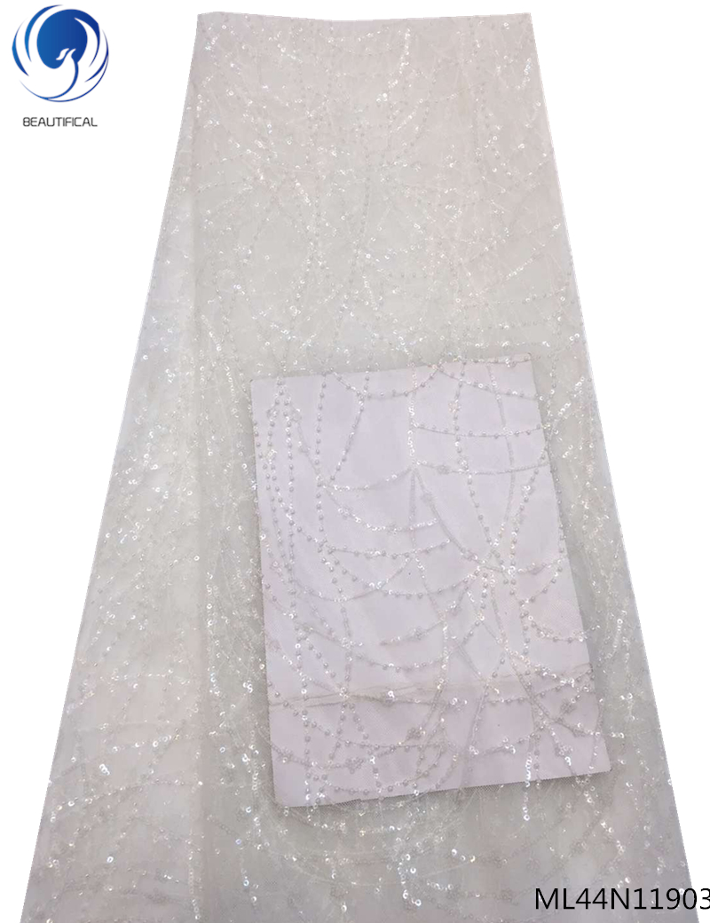 BEAUTIFICAL french tulle lace fabric sequin lace fabrics 5yards french lace fabric with sequins high quality best sales ML44N119BEAUTIFICAL french tulle lace fabric sequin lace fabrics 5yards french lace fabric with sequins high quality best sales ML44N119