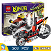 203pcs Ninja Shredder Dragon Bike Motorcycle 10207 DIY Model Building Kit Blocks Gifts Children Toys Bricks