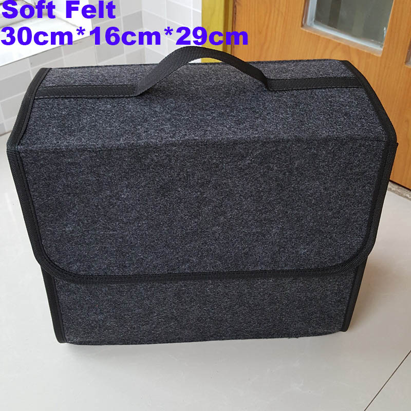 Liberal Car Trunk Organizer Car Storage Bag Cargo Container Box Fireproof Stowing Tidying Holder Multi-pocket Car Styling 30*16*29cm