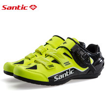 Santic Men No-Lock Cycling Shoes Reflective MTB Shoes Bike Bicycle Rubber Outsole Breathable Road Shoes Zapatillas Ciclismo(China)