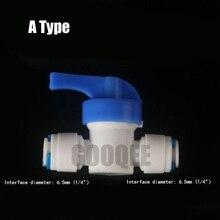 """RO шаровой клапан воды Reveser осмоса аквариумная система фитинги 1/"""" или 3/8"""" OD(2 разных размера) одинаковое быстрое соединение"""