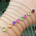 925 sterling silver inlaid treasure gemstone color variety of candy-colored Bubble female models bead bracelet fast shipping