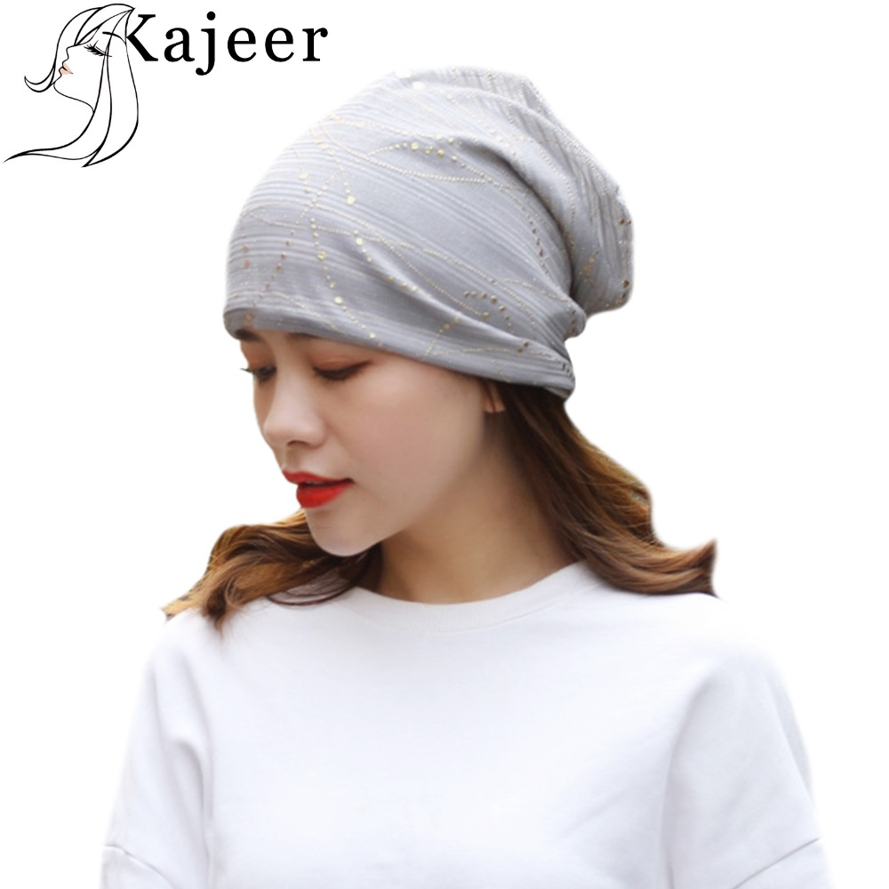 Kajeer Fashion Women Winter Hat Ponytail   Beanie   Cotton   Skullies     Beanies   Female Knitted Warm Winter Hats For Elastic Cotton Cap
