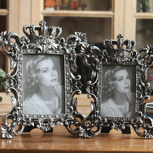 European-style retro resin  6 inch 7 8 metal texture carved crown frame handicraft home decoration