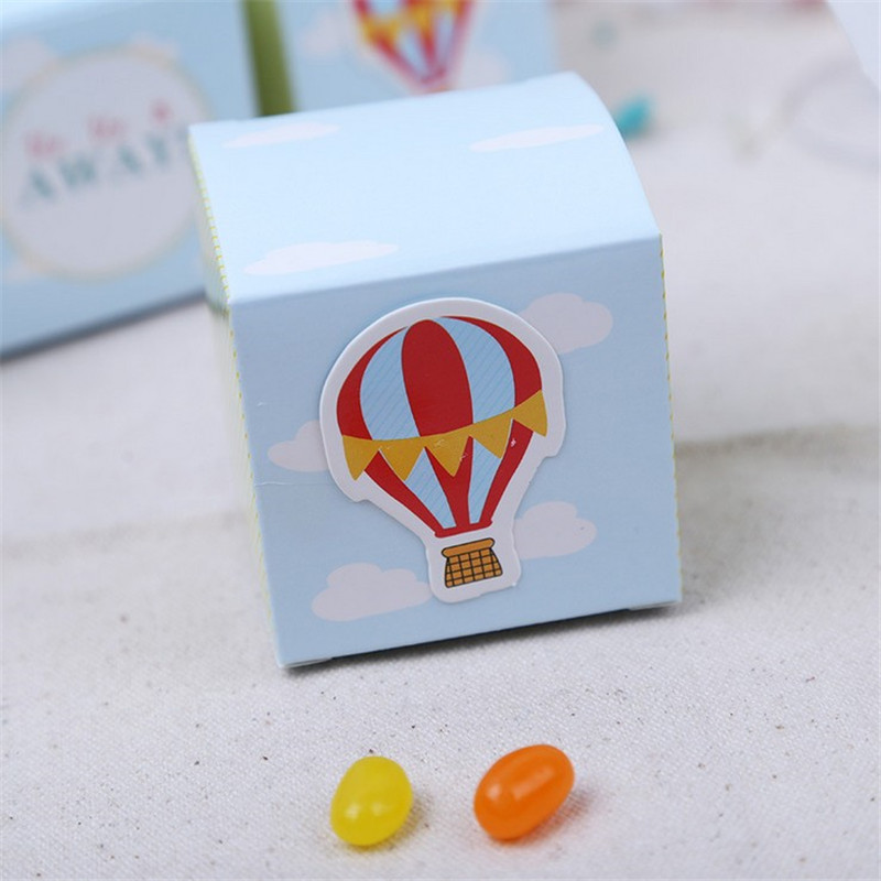 100Pcs lot Up Up Away Hot Air Balloon Wedding Candy Box Gift Packaging Box Wedding Favor