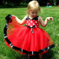 Горошек девочка малыш свадьба ну вечеринку театрализованное пузырь платье тюль платье
