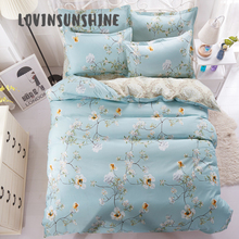 LOVINSUNSHINE Quilt Cover Set Comforter Bedding Sets King Flower 4pcs Bed Duvet AB#51