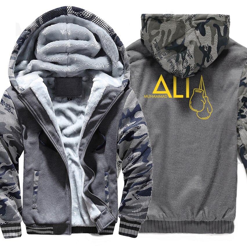 2018 Brand Clothing Sweatshirts Print Muhammad Ali Fashion Streetwear Hoodies Men Raglan Camouflage Tracksuits Harajuku Hoody