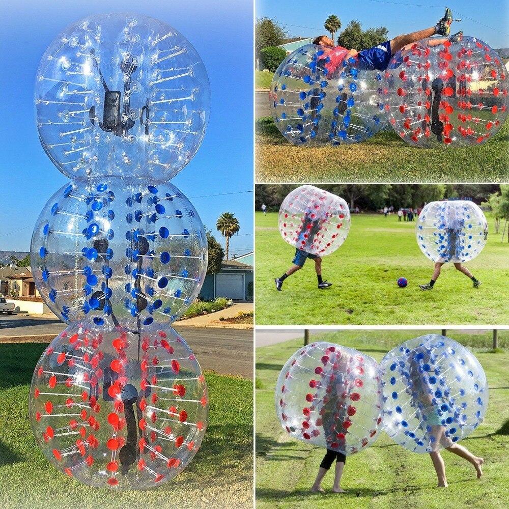 Visqueux antistress 1.0mm TPU boule zorb gonflable 1.2/1.5 m bulle pour football Air boule de protection Bulle jouets de football pour enfants