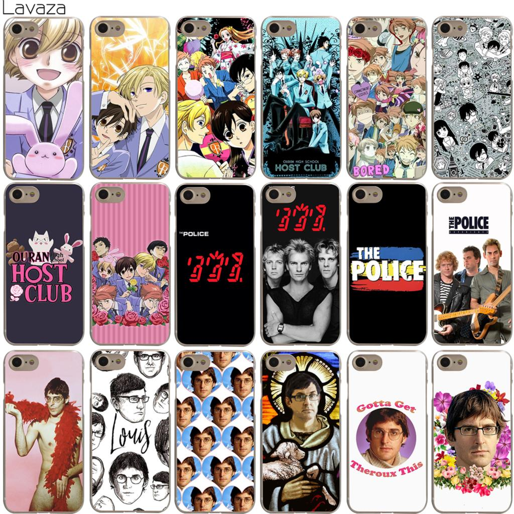 Lavaza Ouran High School Host Club The Police Louis Theroux Case for iPhone 4 4S 5 5S SE 6 6S 7 8 X Plus