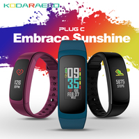 PLUG C Smart Wristband Reflective Color LCD Smart band Electronics Bluetooth Fitness Tracker Always on Heart Rate Smartwatch
