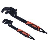 2pcs Universal Pipe Wrench Super Big Opening Hand Tool Household Plumbing Repair Tools Multi Function Adjustable