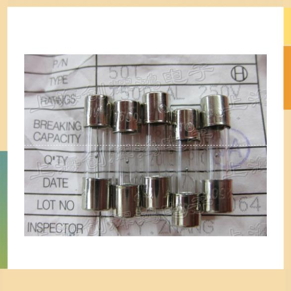 <font><b>5</b></font> * 20 5X20 delay fuse tube T500mAL250V T500MAL 250 <font><b>500ma</b></font> authentic imported image