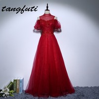 Long New Mother Of The Bride Dresses With Pearls Beaded Lace A Line High Neck Formal