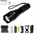 Powerful LED Flashlight zoom torch waterproof Tactical flashlights XM-L T6 3800LM led Zoomable light For 3x AAA or 18650 Battery