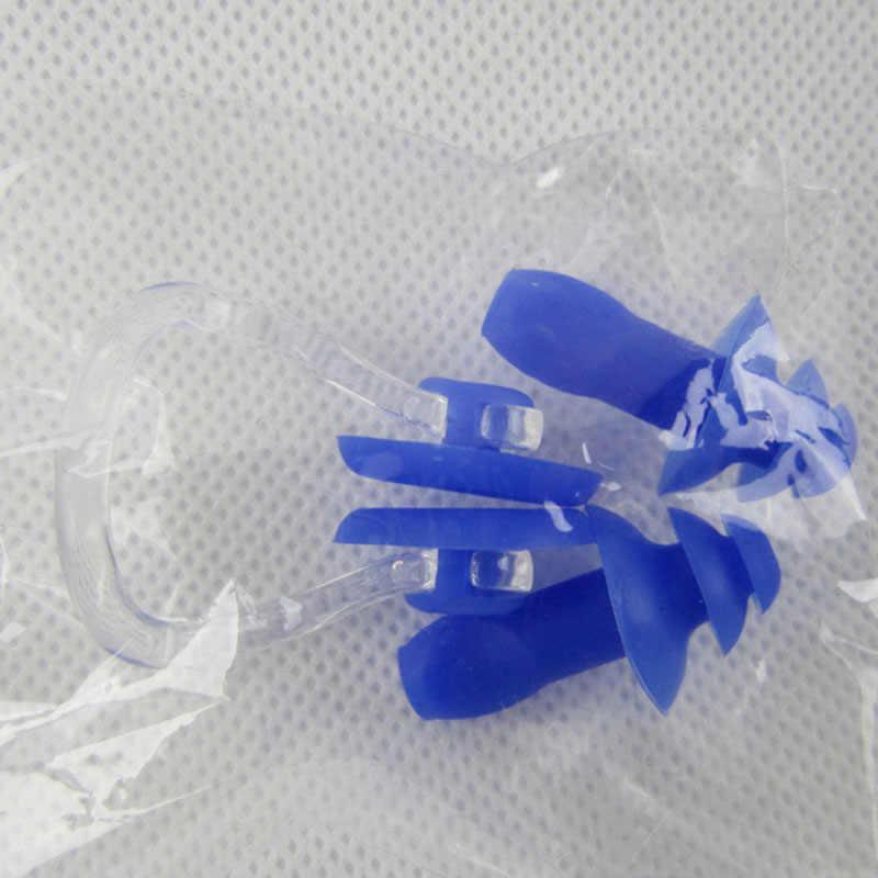 3 unids/set juego de tapones para los oídos de Clip de Nariz de natación de silicona suave impermeable accesorios para piscina de buceo para adultos y niños