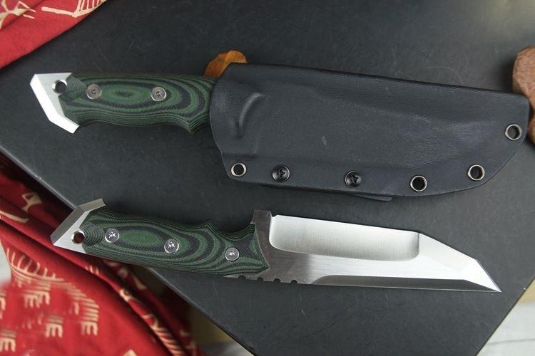 Купить Очень sharp High-end Brush Finish D2 Лезвия Исправлена Тактический Нож, Три Края Ножи Выживания Фиксированным Лезвием дешево