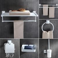 White European Bathroom Accessories Stainless Steel Towel Rack Paper Holder Towel Bar Bathroom Hardware Package Ym010