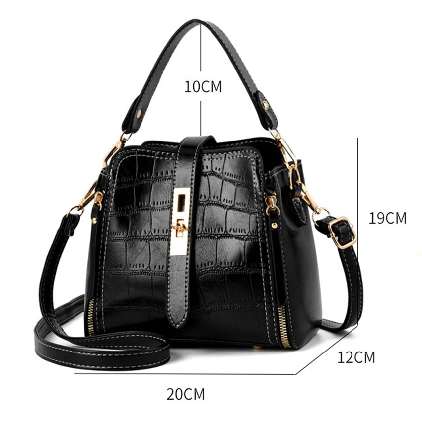 H RU 2019 Luxury Plaid Handbags Women Crossbody Bags Designer Small Bucket Bags High Quality Summer Fashion Side Bags for Ladies in Shoulder Bags from Luggage Bags