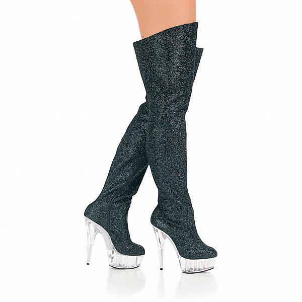 65434976d 15cm tall sexy boots high heels punk motorcycle boots gold glitter ...