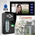 Проводной 7 дюймов TFT Белый Экран Видео-Телефон Двери Интерком Комплект