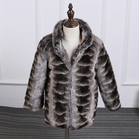 2016 autumn and winter children faux mink fur coat stand collar boy and girl cute cotton jacket coat children's clothing 000159