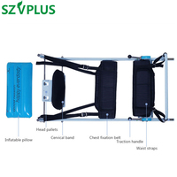 Enforced Cervical Spine Lumbar Traction Bed PATENT Spondylosis Physical Therapy Body Stretching Units curing Lumbago and neck