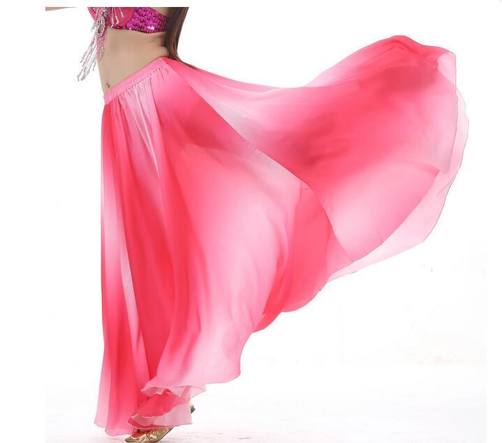 Elegant  Gradient skirts Belly dance costumes women belly Girl Dance Skirt dresses 4 colors *new*