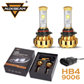 Auxbeam Cree LED Chips 9006/HB4 Car Headlight Bulbs 60W/pair Luxury Gold Aluminum SUV Refitment HB4 Fog Lamps with Built-in Fan
