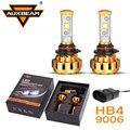Auxbeam Cree LED Salta 9006/HB4 Bombillas de Los Faros Del Coche 60 W/pair Oro De Lujo de Aluminio SUV Refitment HB4 Faros Antiniebla con Una Función de Ventilador
